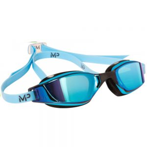 Okularki pływackie MP XCEED Titanium Mirror Blue Lens
