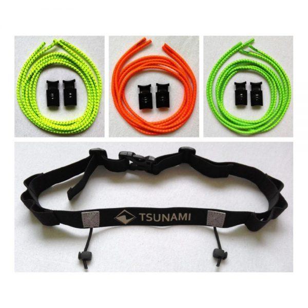 Zestaw TSUNAMI TRI-PACK - 3 sznurowadła + 1 pas